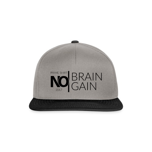 No Brain, No Gain - Collection 2017 - Noir - Casquette snapback