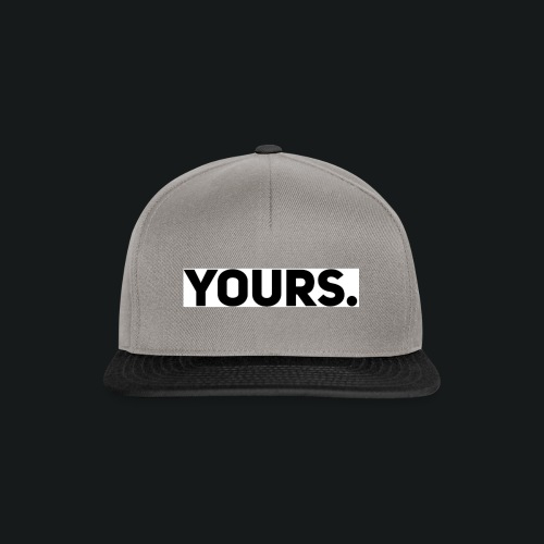 ZWART YOURS. SWEATER MAN - Snapback cap