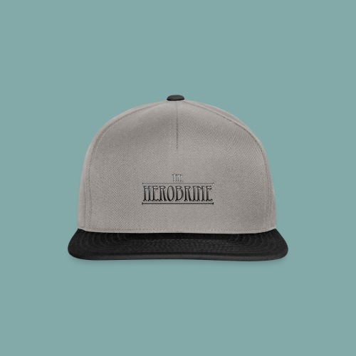 Herobrine Logo_Metal - Snapback Cap