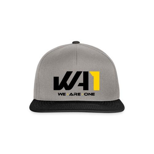 Wir sind eins (schwarze Schrift) - Snapback Cap