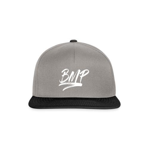 White BMP Logo - Snapback Cap