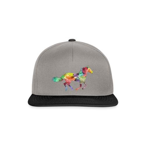 Cheval multicolore - Casquette snapback