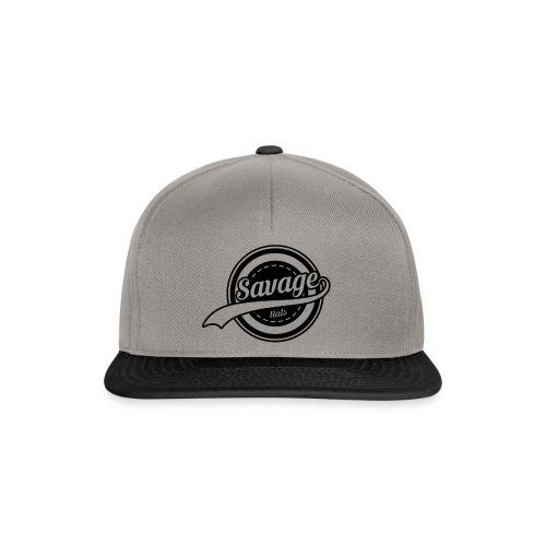 Savage Hals Balck Logo - Snapback Cap