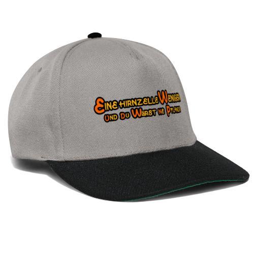 Eine Hirnzelle weniger - Snapback Cap