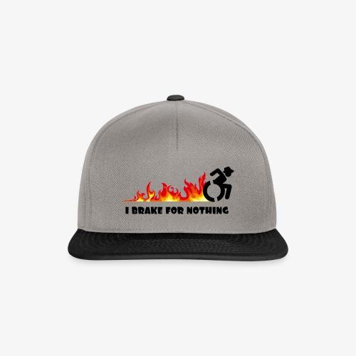 > Ik zal met mijn rolstoel nergens voor remmen - Snapback cap