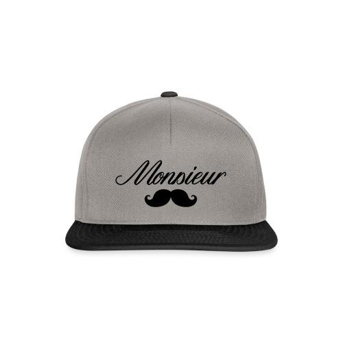 monsieur moustache logo - Casquette snapback
