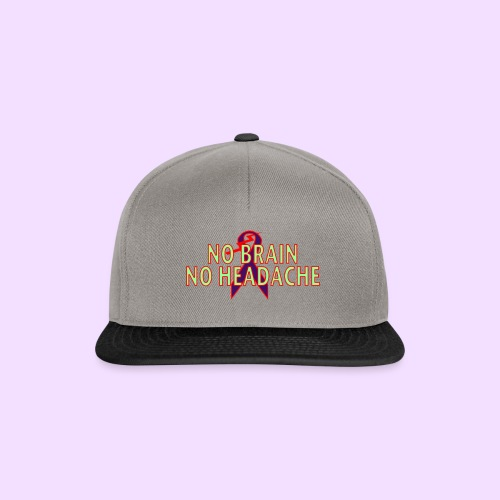 no brain no headache png - Snapback cap