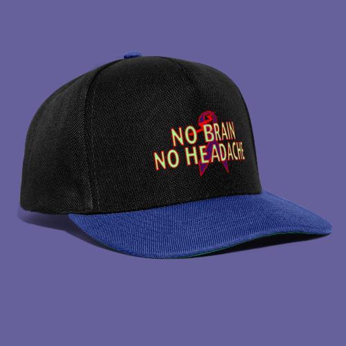 no brain no headache png - Casquette snapback