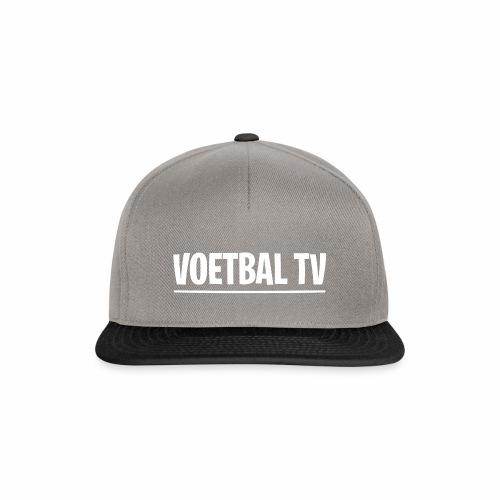 voetbal tv shirt tekst wit 2 - Snapback cap