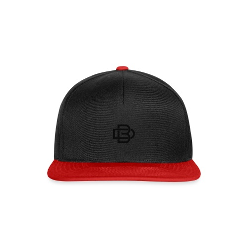 Black Monogram Logo - Snapback Cap