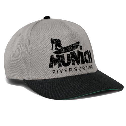 Munich Riversurfing München Surfer Vintage Schwarz - Snapback Cap
