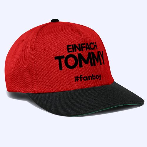 Einfach Tommy / #fanboy / Black Font - Snapback Cap