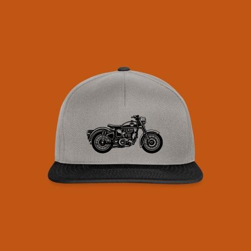 Motorrad / Classic Motorcycle 04_schwarz - Snapback Cap