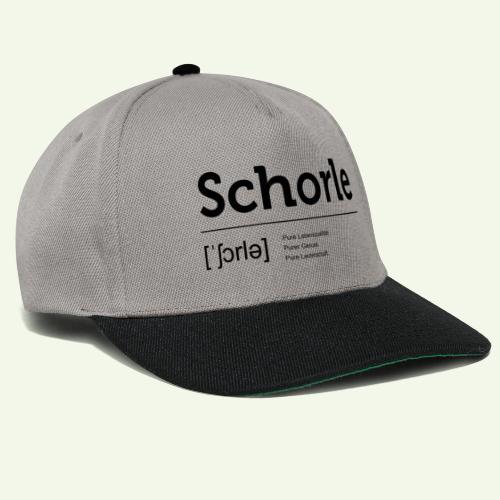 Schorle Lautschrift - Snapback Cap