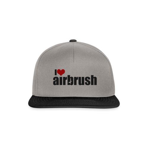 I Love airbrush - Snapback Cap