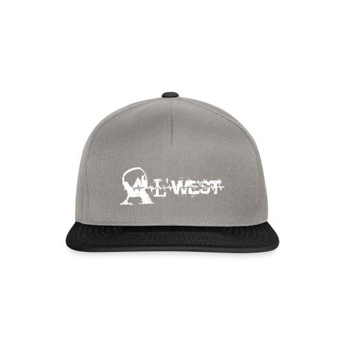 logo alwest blanc - Casquette snapback