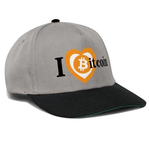 I Love Bitcoin - Snapback Cap