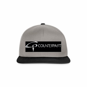 Counterpart Logo w on b - Snapback Cap