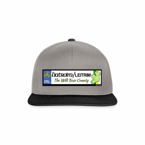 LEITRIM, IRELAND: licence plate tag style decal eu - Snapback Cap