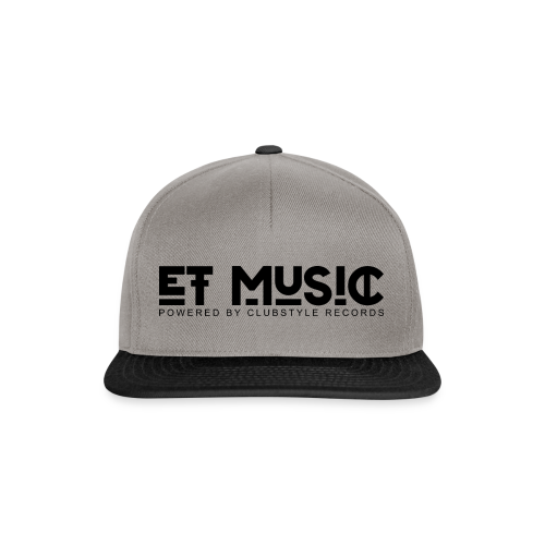E.T. Music Logo (Powered by ClubStyle Records) - Snapback cap