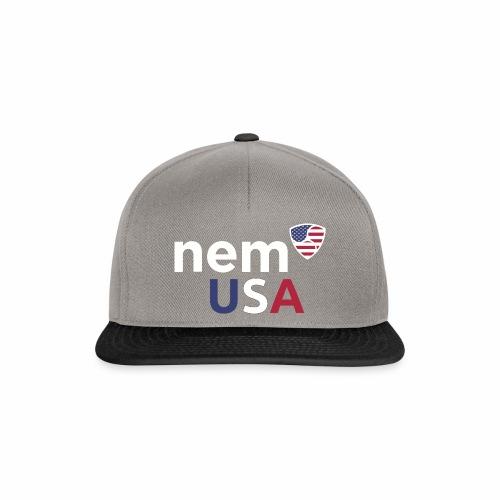 NEM USA white - Snapback Cap
