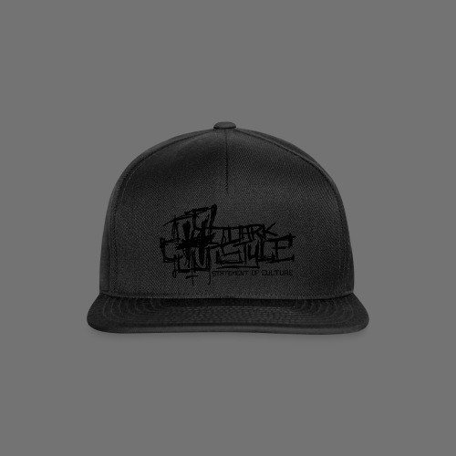 Tumma Style - Statement of Culture (musta) - Snapback Cap