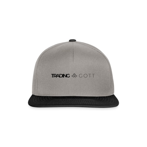 TRADINGGOTT Logo schwarz - Snapback Cap