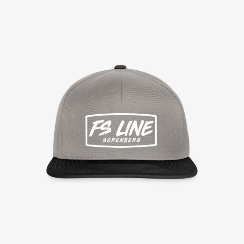 LINE BADGE weiss - Snapback Cap