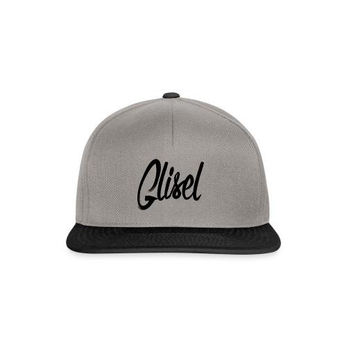 Glisel Logo schwarz transparent - Snapback Cap