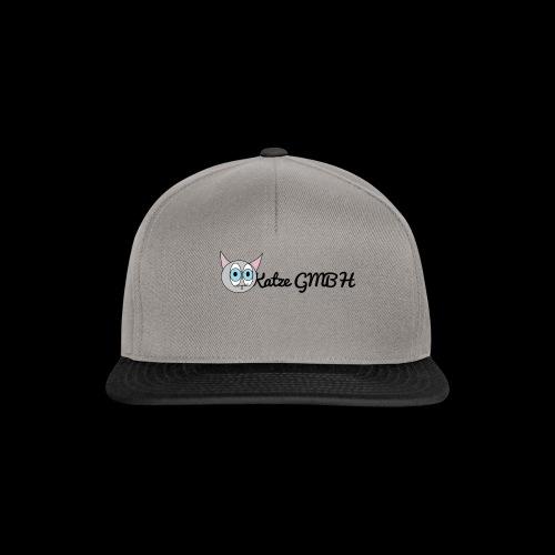 Katze GMBH Logo mit Schriftzug (Schwarz auf weiss) - Snapback Cap