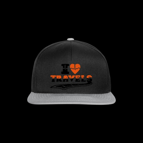 i love travels surprises 2 col - Snapback Cap