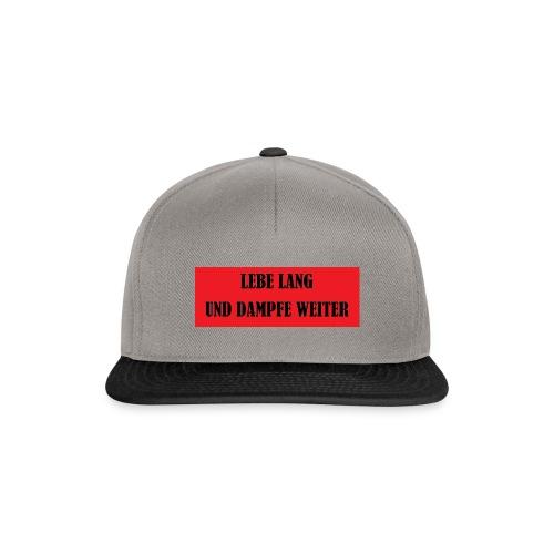 LEBE LANG UND DAMPFE WEITER - Snapback Cap