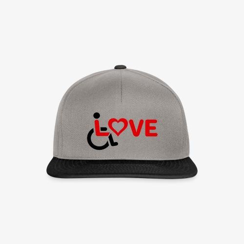 > Rolstoel liefde, rolstoelgebruiker, roller - Snapback cap