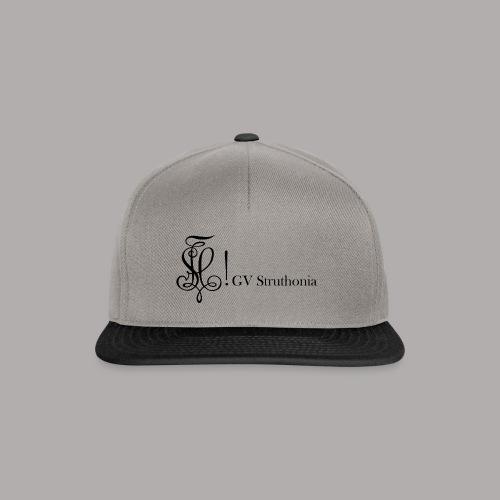 Zirkel mit Name, schwarz (vorne) - Snapback Cap