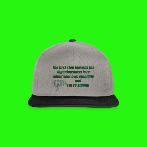 Your own stupidity is your ingenious - Snapback Cap