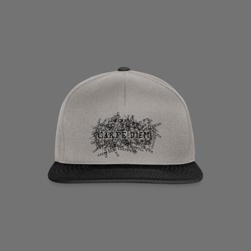 carpe diem (black) - Snapback Cap