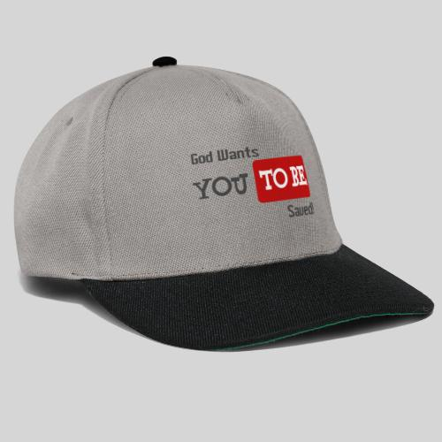 God wants you to be saved Johannes 3,16 - Snapback Cap