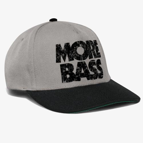 More Bass (Vintage/Schwarz) Bassist Bassisten - Snapback Cap