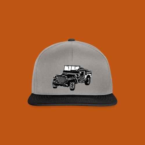 Geländewagen / Jeep SUV 02_schwarz weiß - Snapback Cap