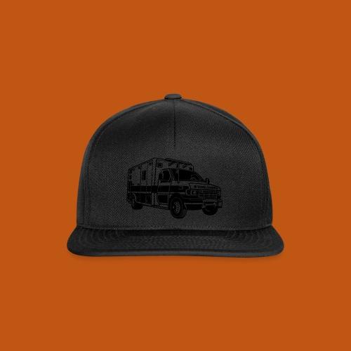 Krankenwagen / Rettungswagen 01_schwarz - Snapback Cap