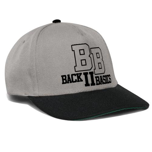 Logo Back To Basics 1 couleur vectorise - Casquette snapback