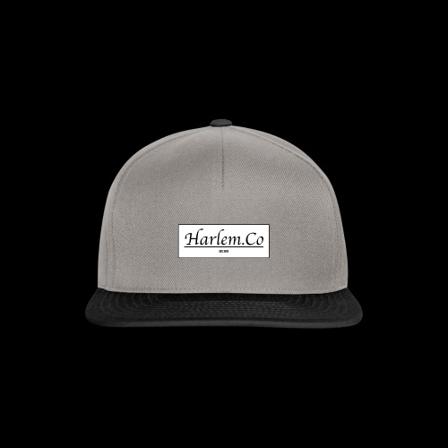 Harlem Co logo White and Black - Snapback Cap