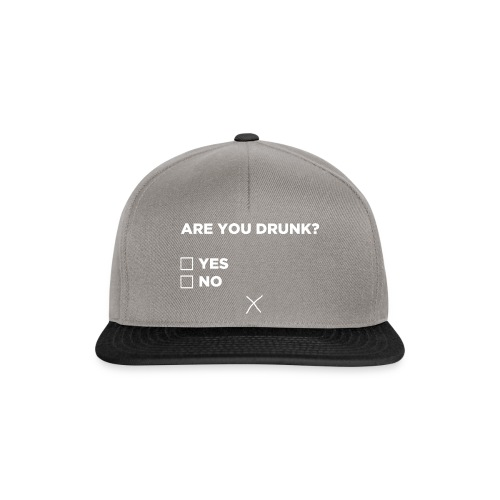 Are You Drunk - Snapback cap