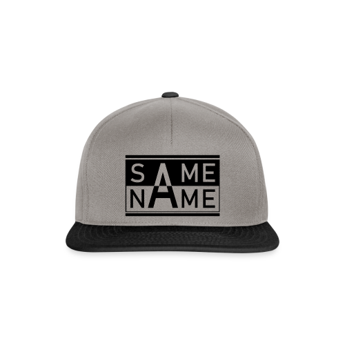 Same Name Same Design - Snapback Cap