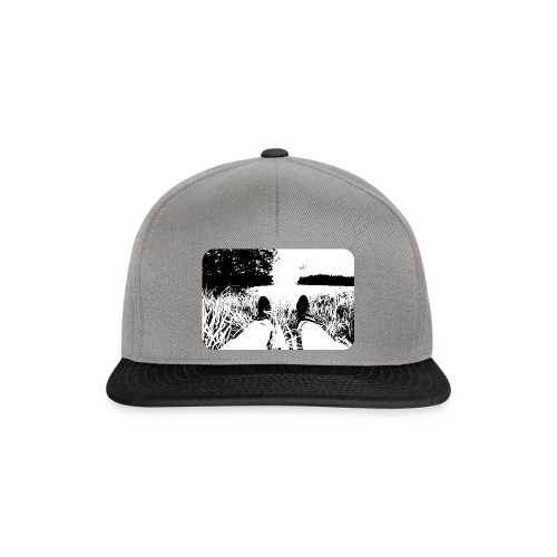 Green Grass in Black and White - Gorra Snapback