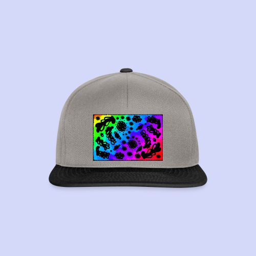 Rainbow doodle - Female shirt - Snapback Cap