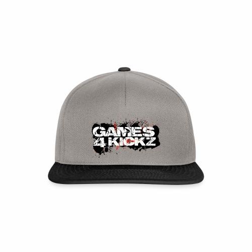 Games4Kickz Logo Splattered Background - Snapback Cap