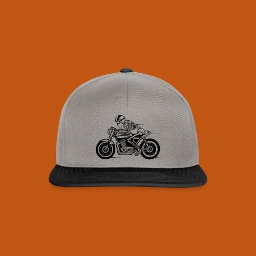 Cafe Racer Motorrad 05_schwarz - Snapback Cap