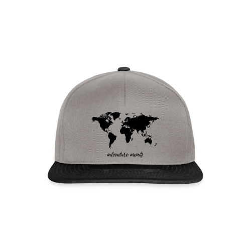 adventure awaits - Weltkarte - Snapback Cap