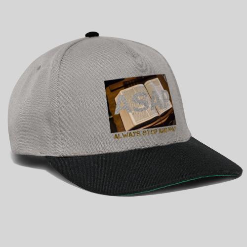 ASAP Always stop and pray auf einer Bibel - Snapback Cap